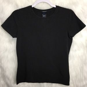 Gap Black Stretchy Short Sleeve Top Small